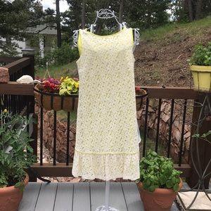 LOFT Cream Lace Dress